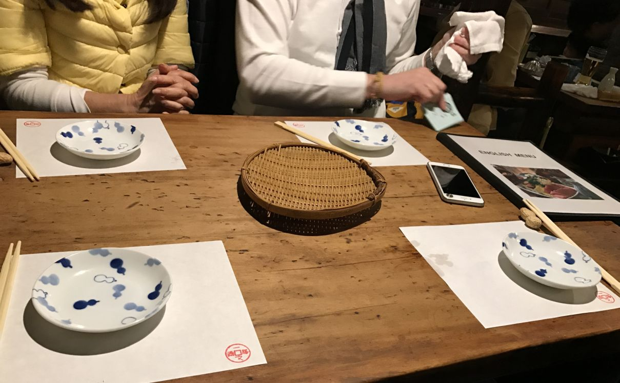 Table setting very simple. & Asakusa Ichimon Honten